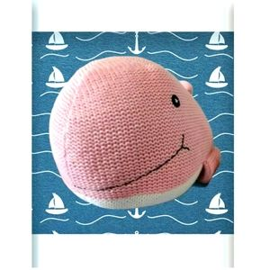 BNWT Pink Whale Cotton Plush Soft Toy Large